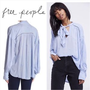 NWT Free💕People Wishful Moments Tunic in Blue Gem